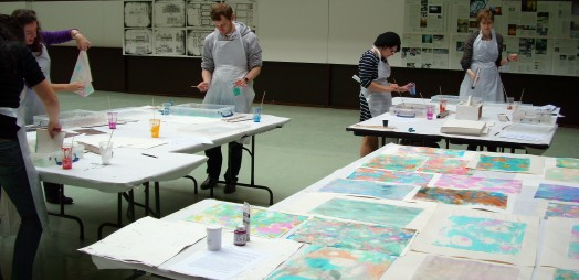 Picture of marbling workshop
