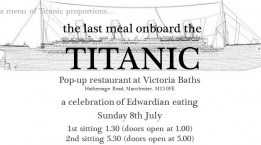 Last Meal onboard the Titanic