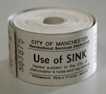 Roll of 'Use of sink' tickets