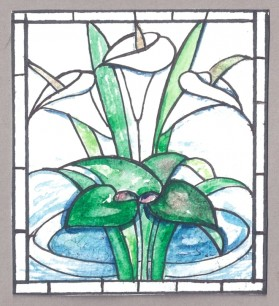 Lilies window design