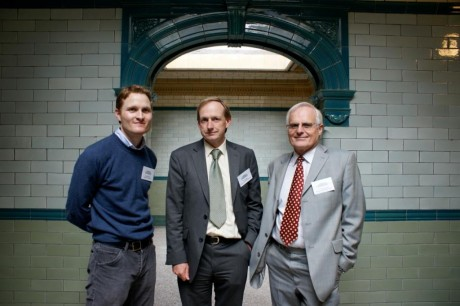 Trustee Trevor Mottershaw (right) with members of the Restoration Phase 1 project team