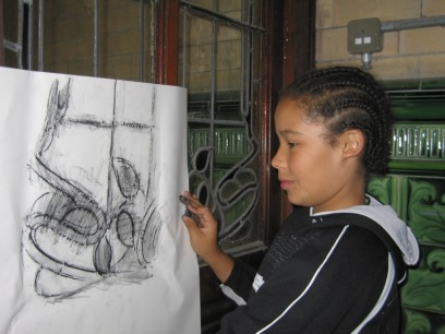 stained glass rubbing