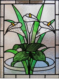 Recently installed Lilies window