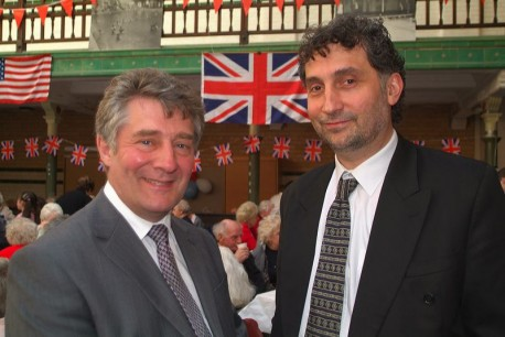 Founder member of the Trust Tony Bowyer (right) with local MP Tony Lloyd