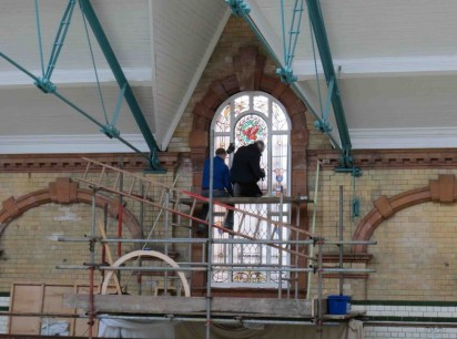 Installation of the AQUA window, 2012
